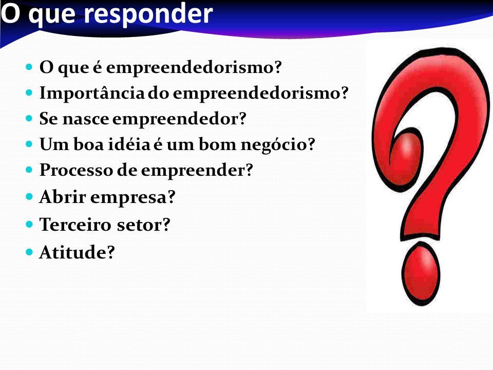O que responder Abrir empresa Terceiro setor Atitude