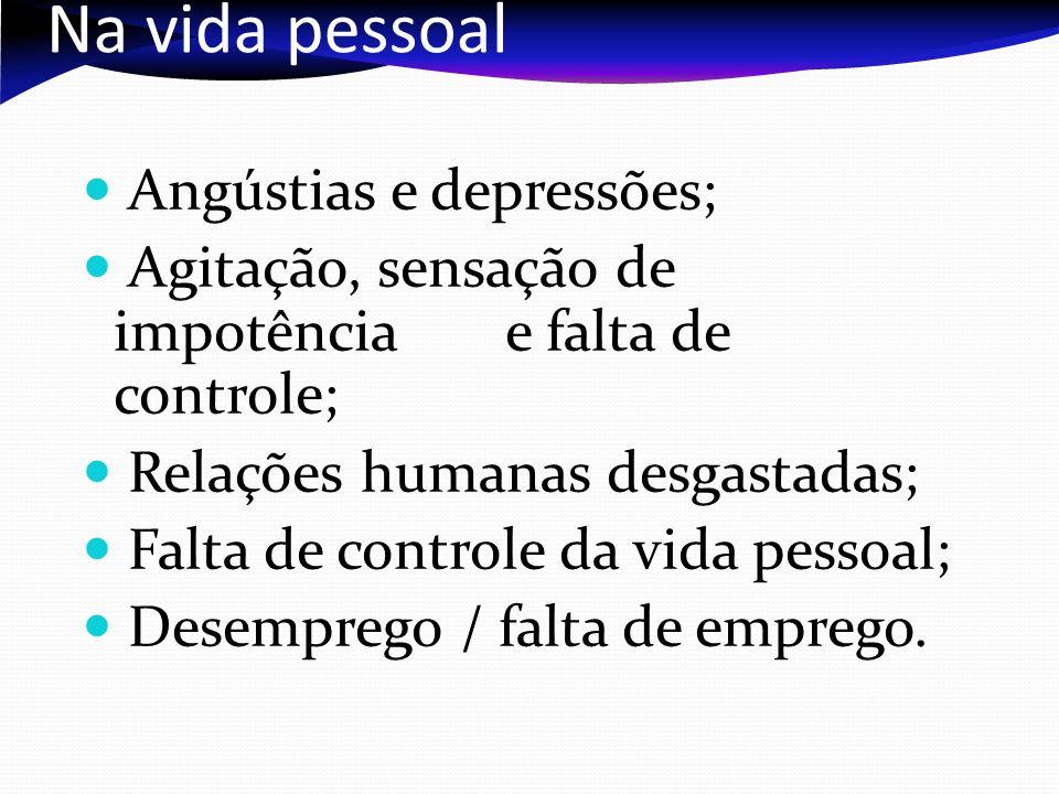 Na vida pessoal Angústias e depressões;