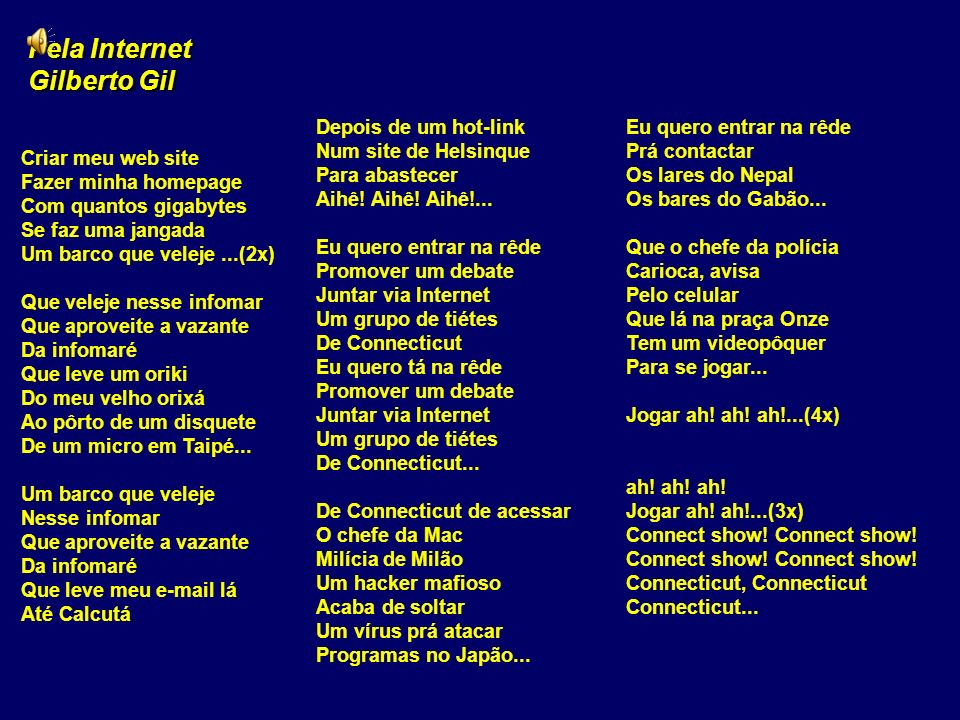 Pela Internet Gilberto Gil