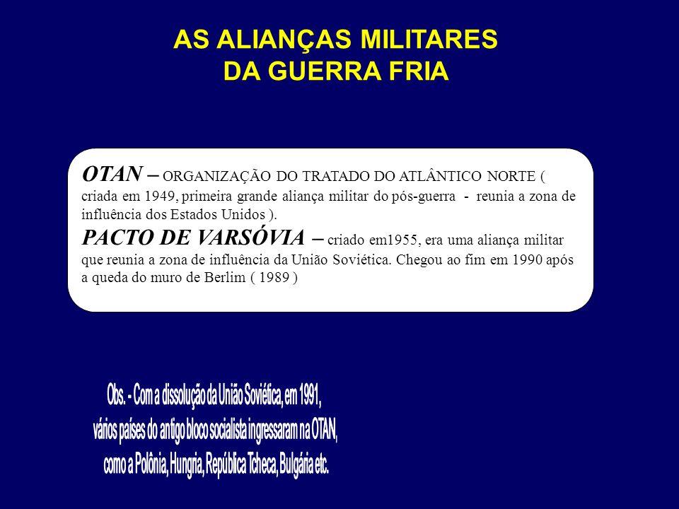 AS ALIANÇAS MILITARES DA GUERRA FRIA