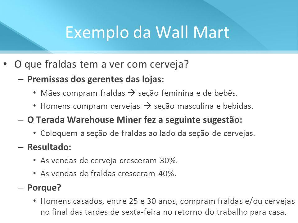 Exemplo da Wall Mart O que fraldas tem a ver com cerveja