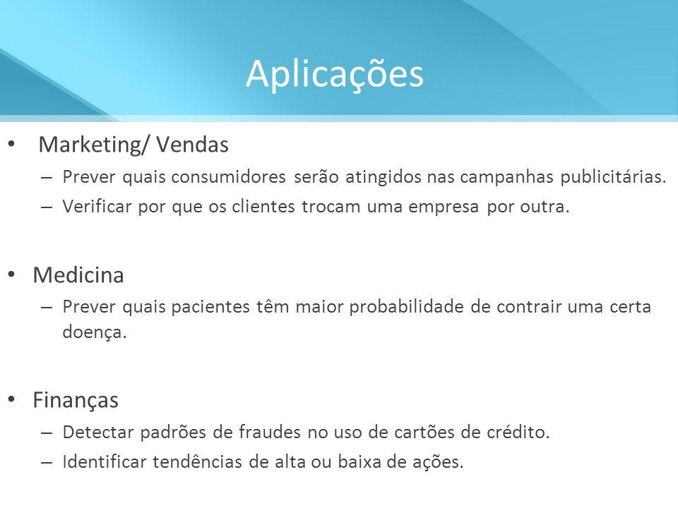 Aplicações Marketing/ Vendas Medicina Finanças