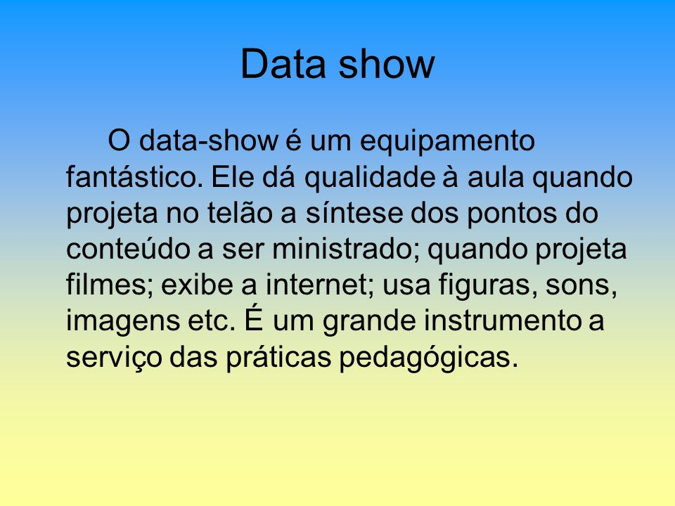 Data show