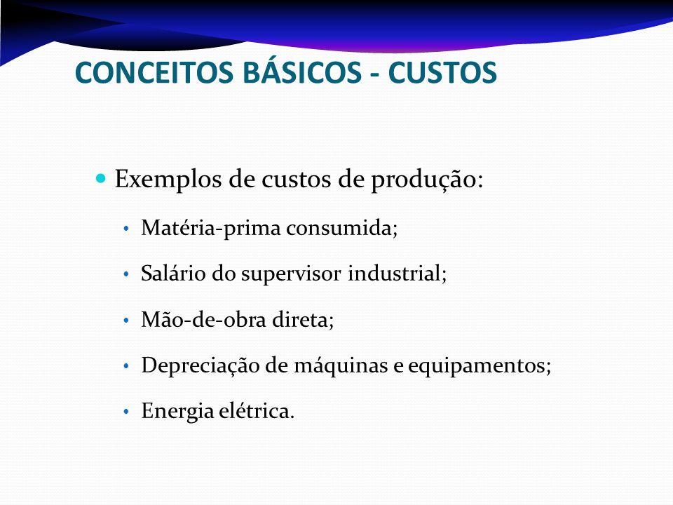 CONCEITOS BÁSICOS - CUSTOS