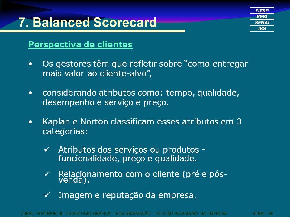 7. Balanced Scorecard Perspectiva de clientes