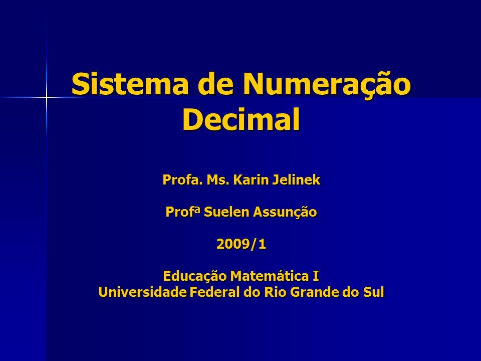 Sistema de Numeração Decimal Profa. Ms