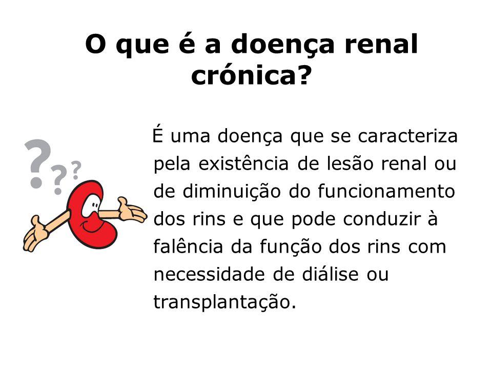 O que é a doença renal crónica