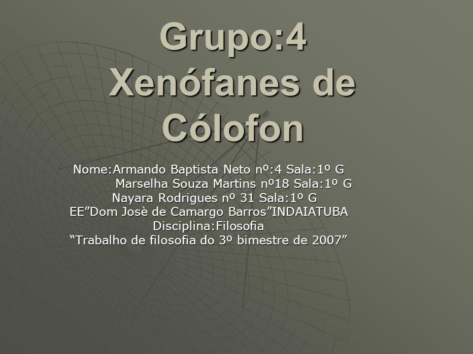 Grupo:4 Xenófanes de Cólofon