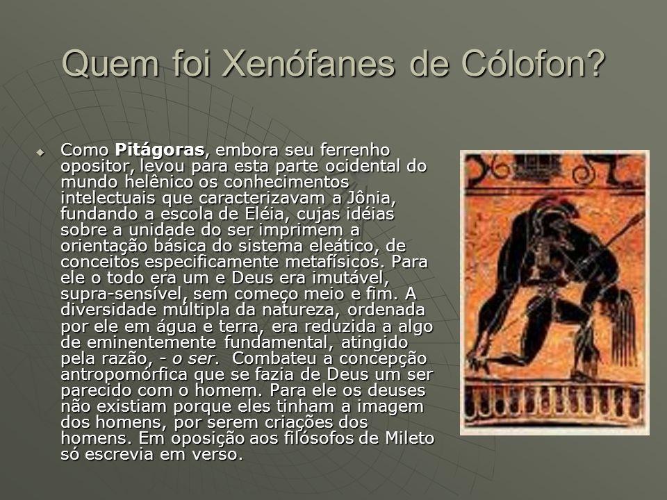 Quem foi Xenófanes de Cólofon
