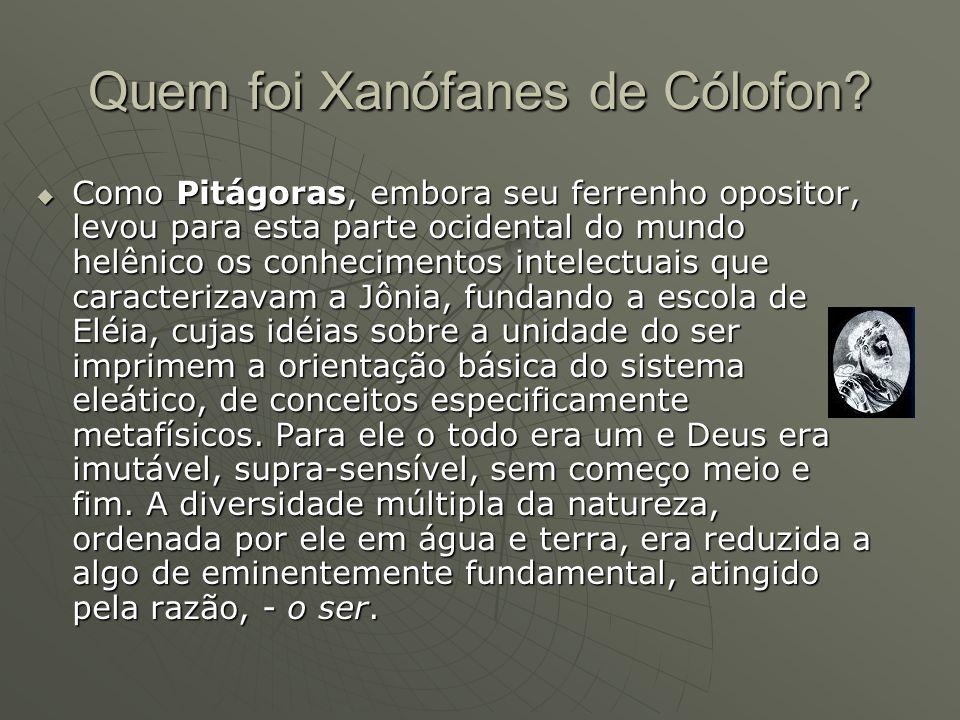 Quem foi Xanófanes de Cólofon