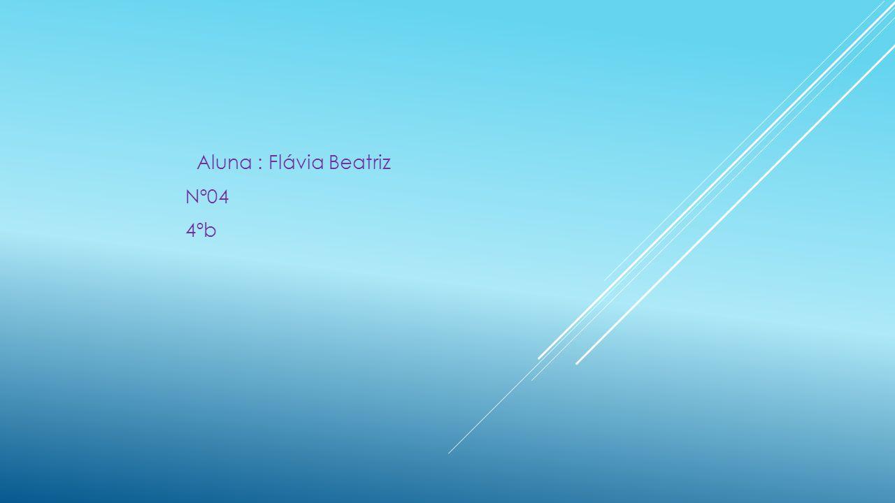 Aluna : Flávia Beatriz Nº04 4ºb