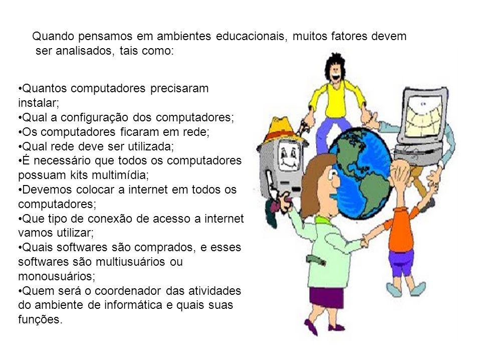 Quando pensamos em ambientes educacionais, muitos fatores devem