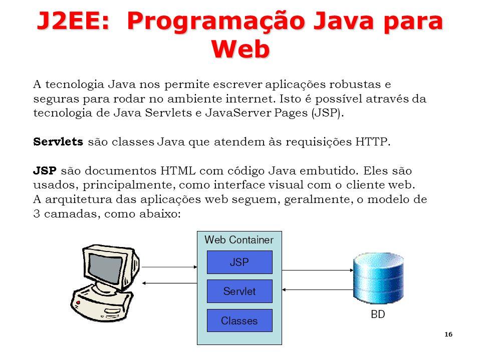 J2EE: Programação Java para Web