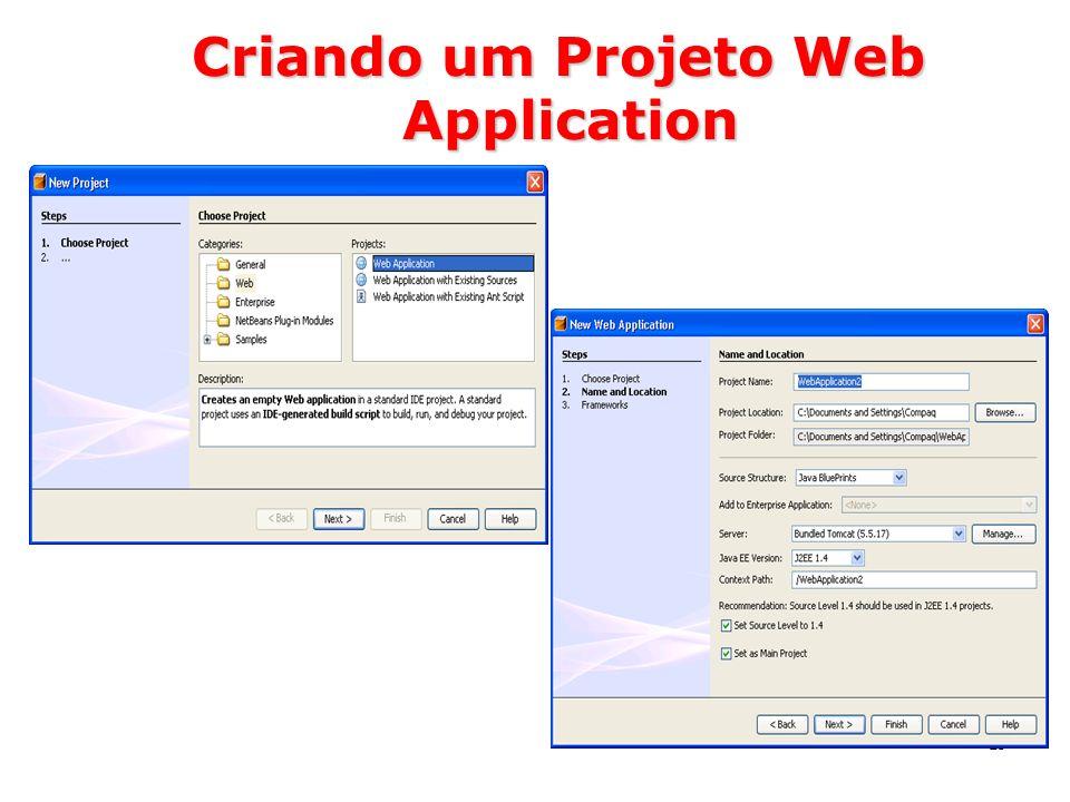 Criando um Projeto Web Application