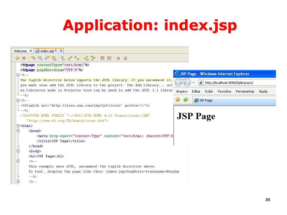 Application: index.jsp
