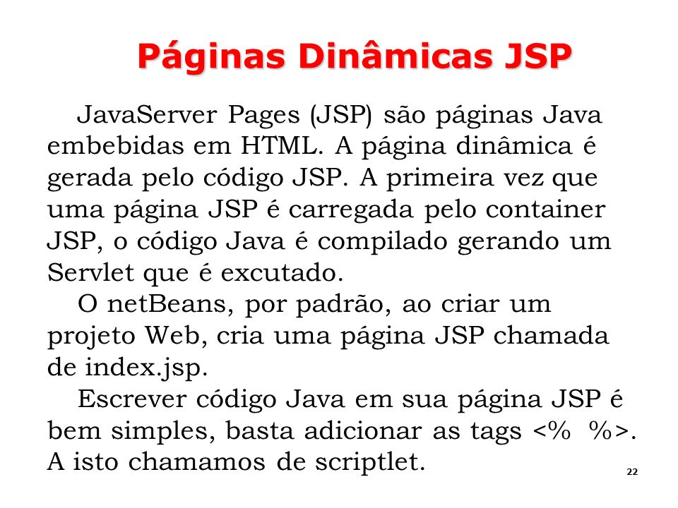 Páginas Dinâmicas JSP