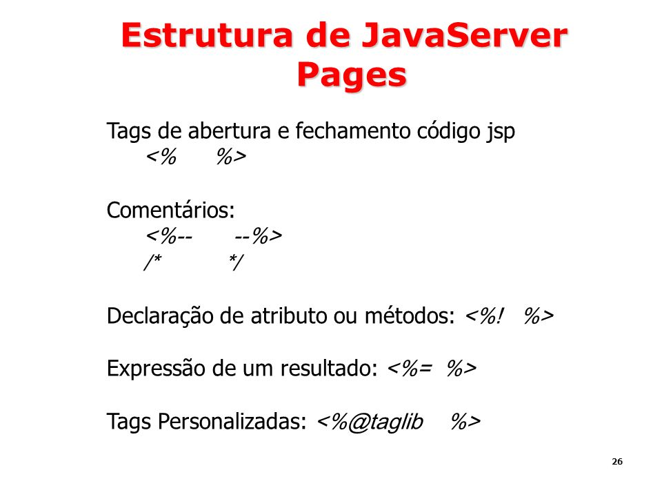 Estrutura de JavaServer Pages