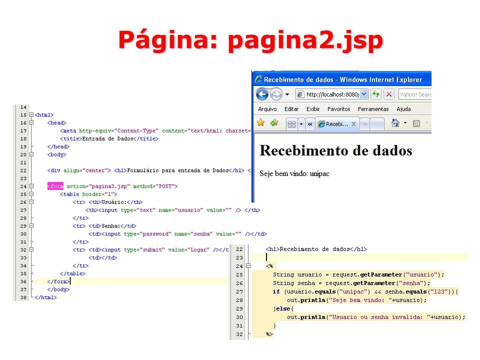 Página: pagina2.jsp
