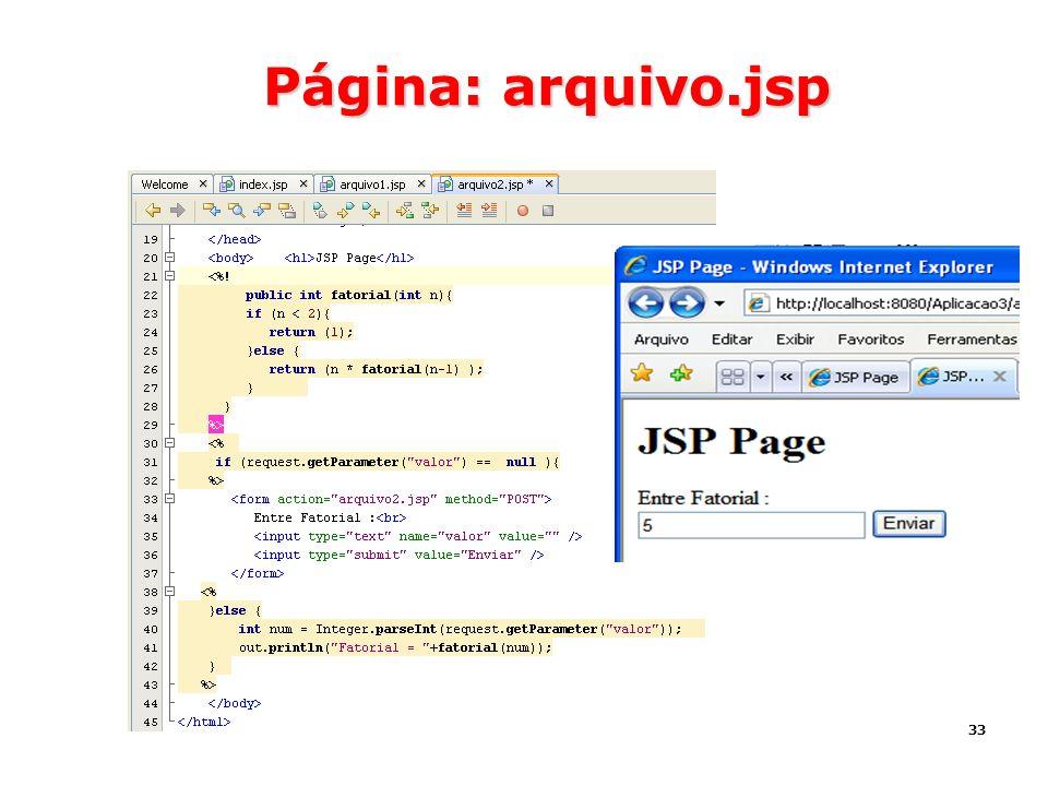 Página: arquivo.jsp