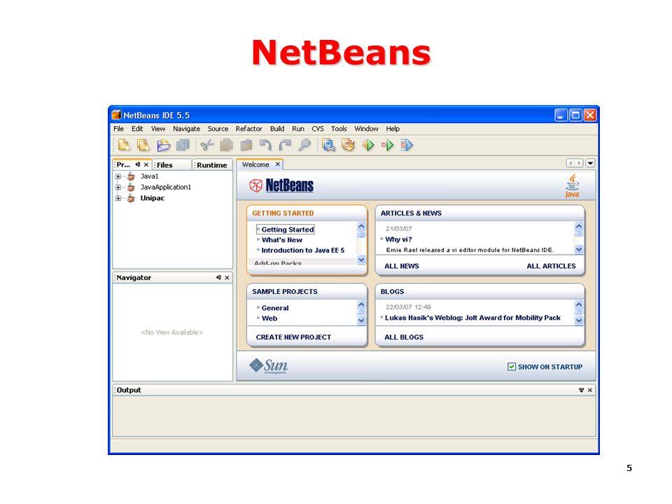 NetBeans Workbench Área de trabalho Tutorials Tutorial Samples