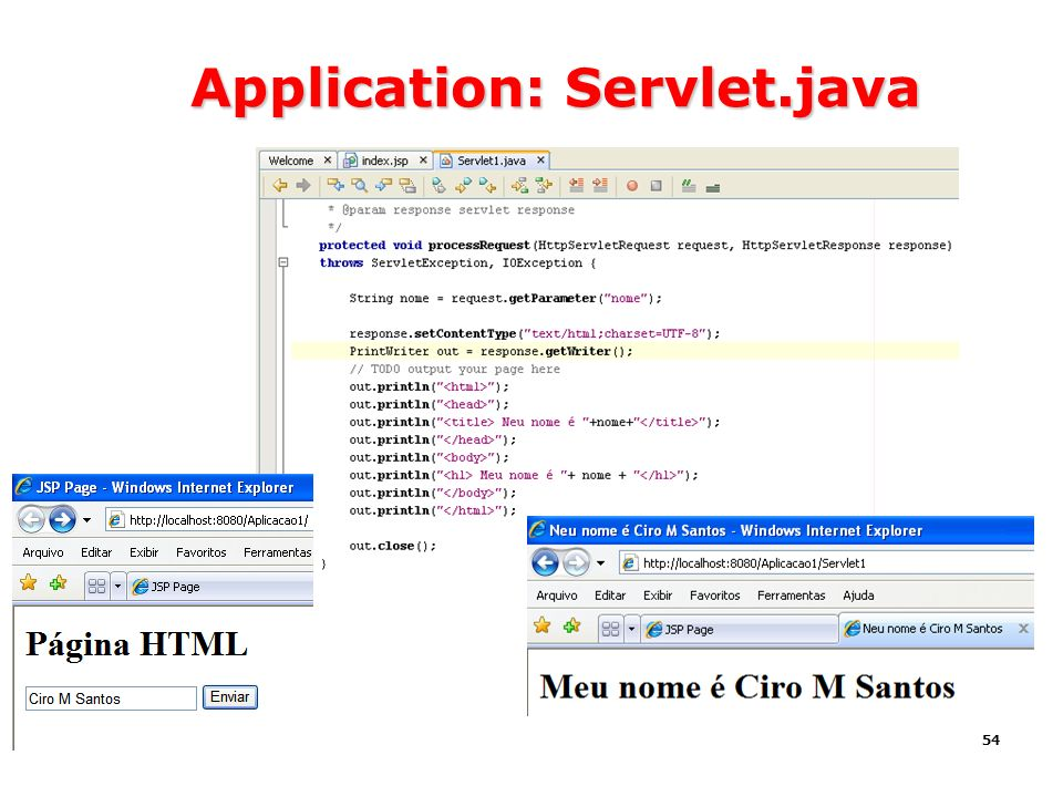 Application: Servlet.java