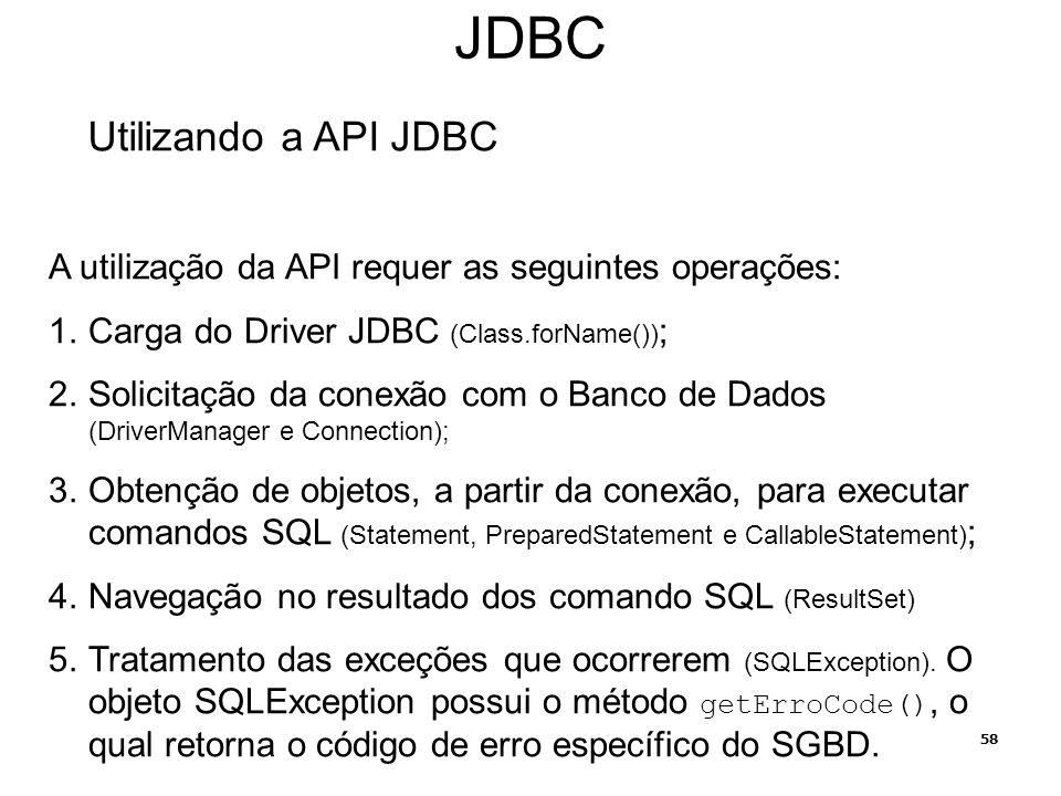JDBC Utilizando a API JDBC