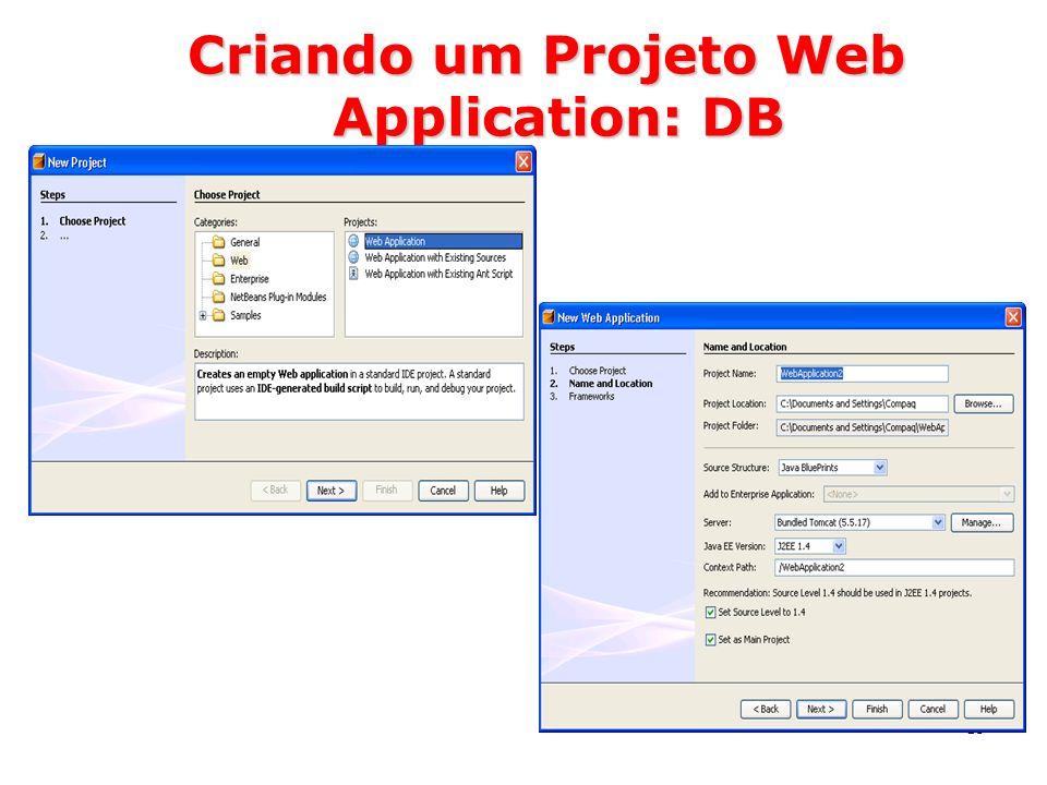 Criando um Projeto Web Application: DB