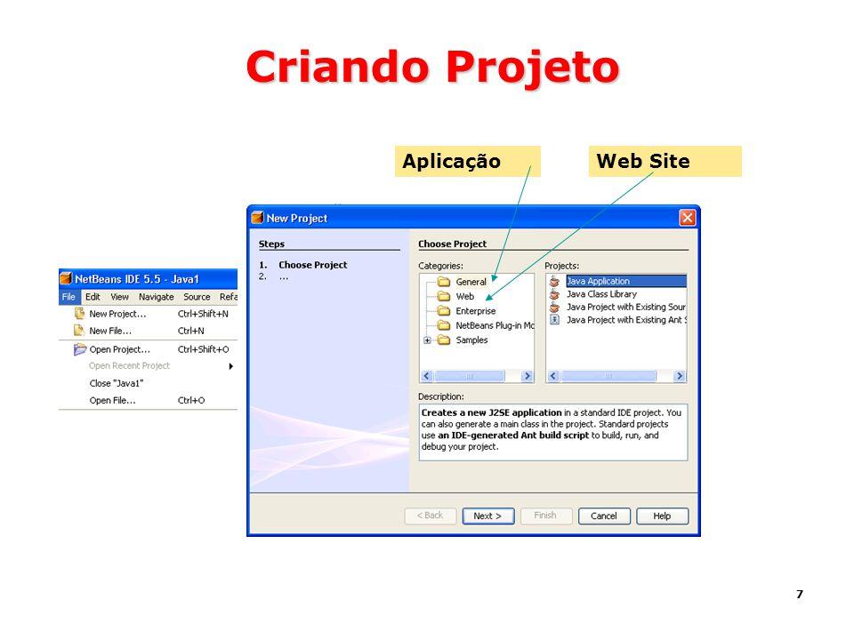 Criando Projeto Aplicação Web Site
