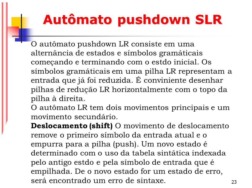 Autômato pushdown SLR