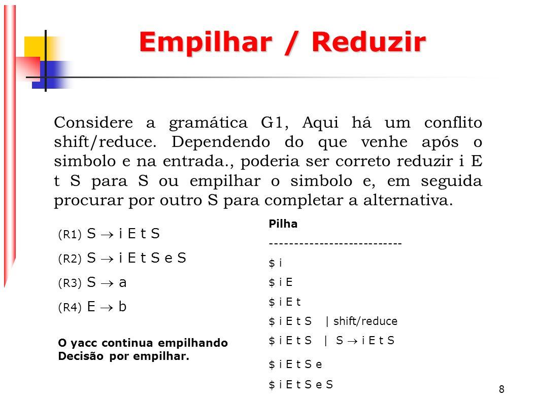 Empilhar / Reduzir