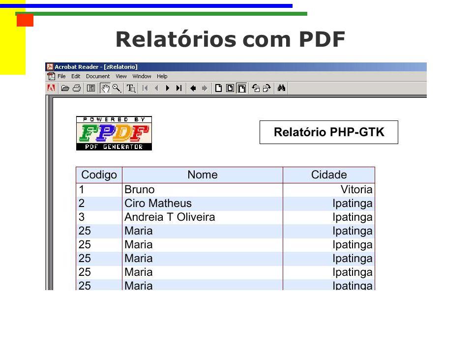 Relatórios com PDF