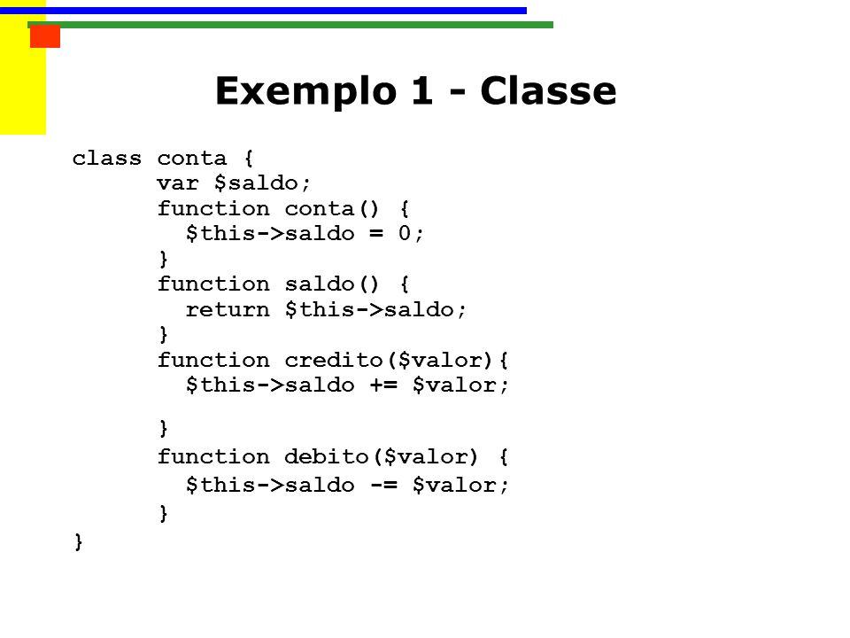 Exemplo 1 - Classe