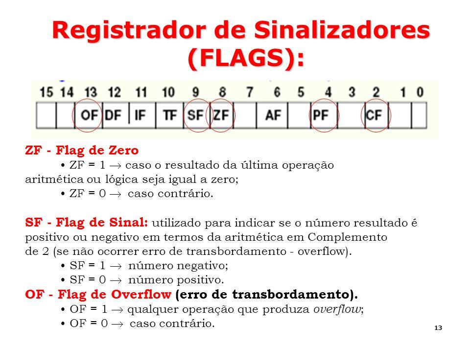 Registrador de Sinalizadores (FLAGS):
