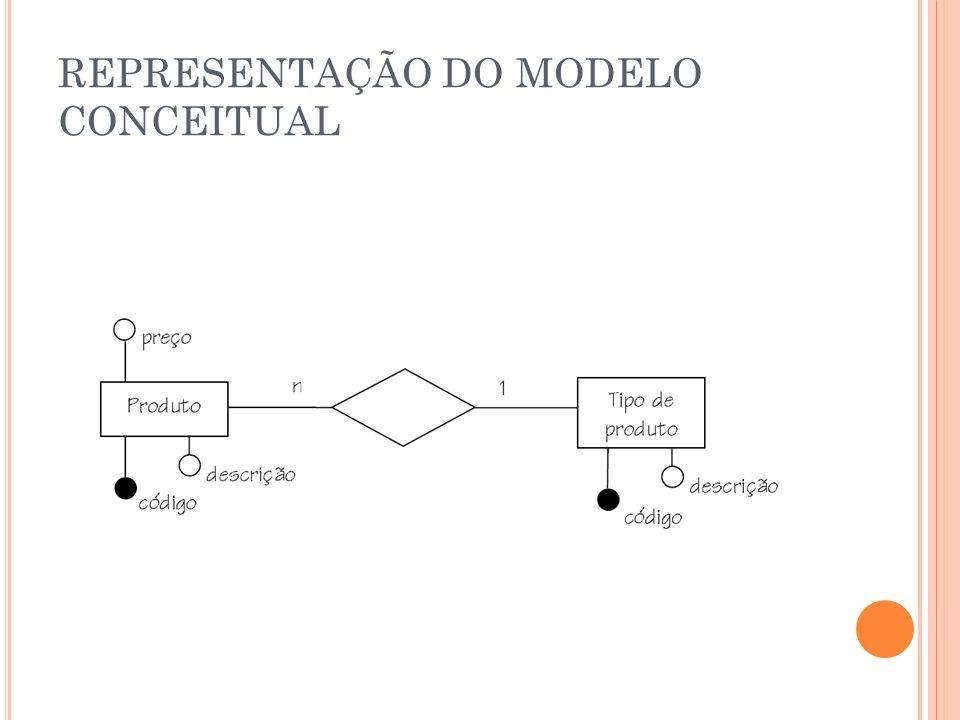 REPRESENTAÇÃO DO MODELO CONCEITUAL