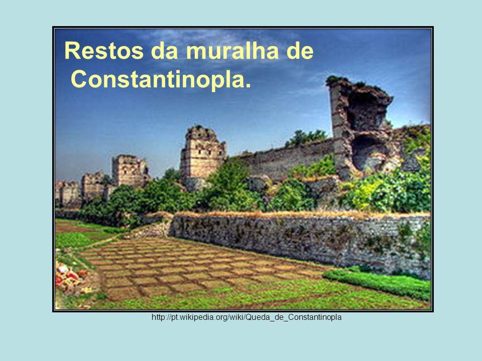 Restos da muralha de Constantinopla.