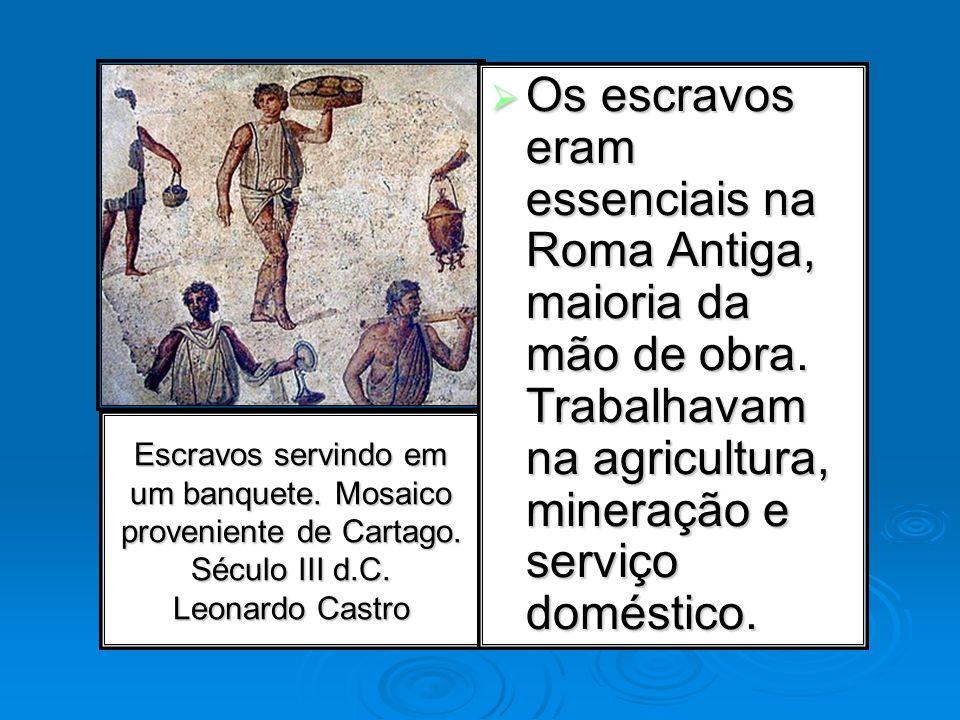 Os escravos eram essenciais na Roma Antiga, maioria da mão de obra