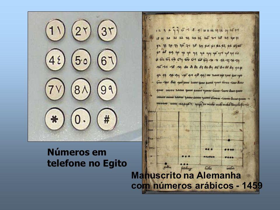 Números em telefone no Egito