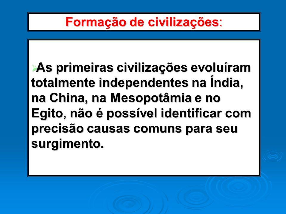 Formação de civilizações: