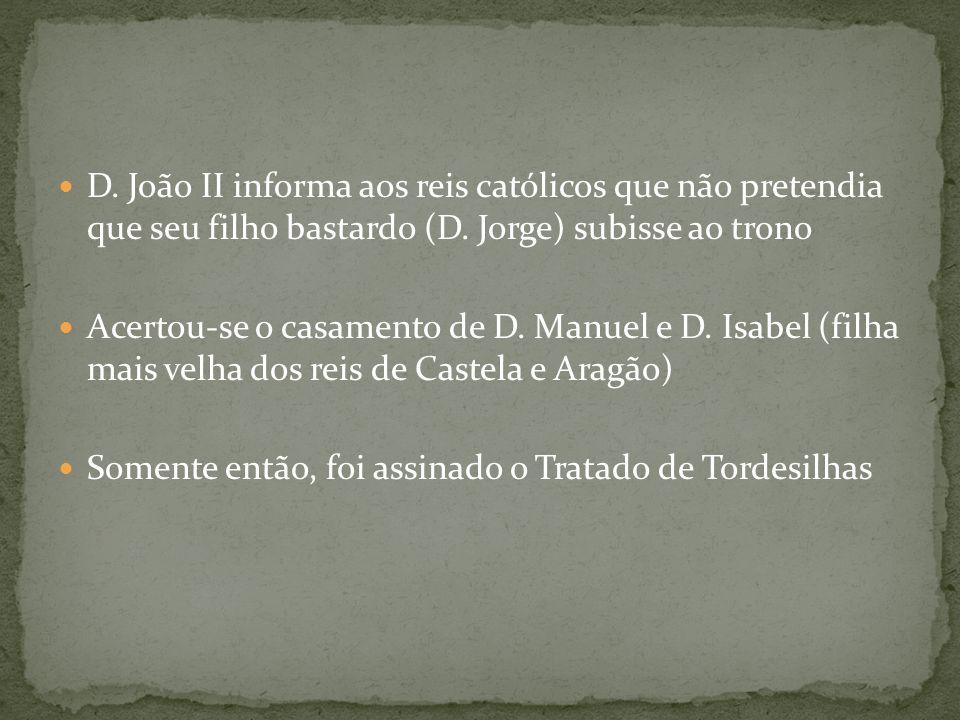 D. João II informa aos reis católicos que não pretendia que seu filho bastardo (D. Jorge) subisse ao trono