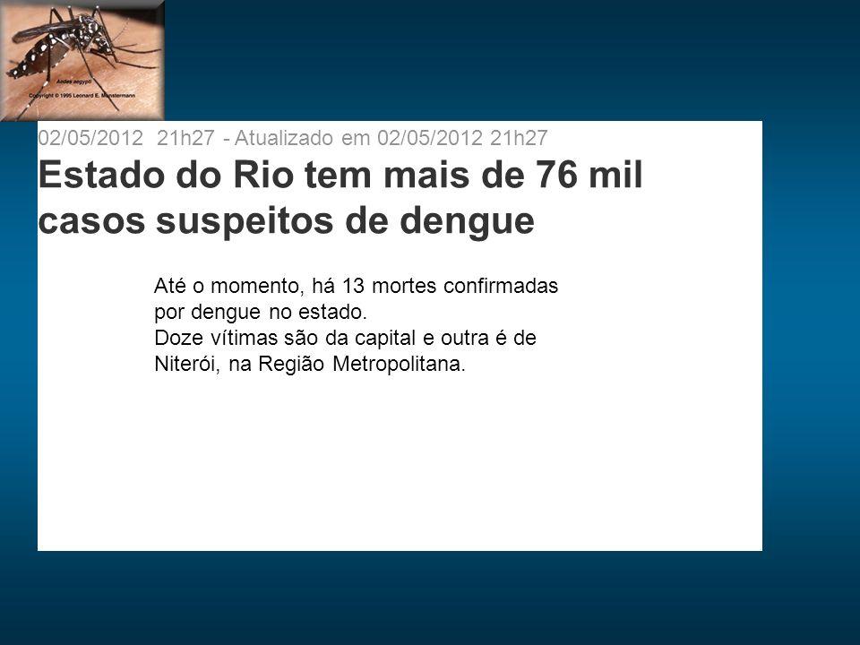 Estado do Rio tem mais de 76 mil casos suspeitos de dengue