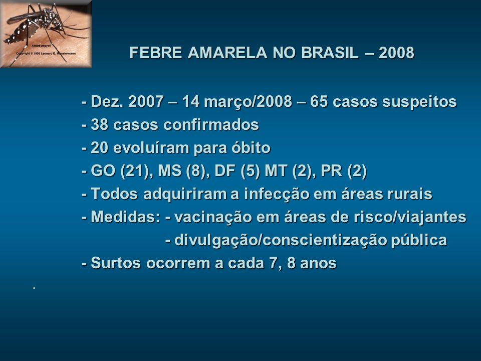 FEBRE AMARELA NO BRASIL – 2008