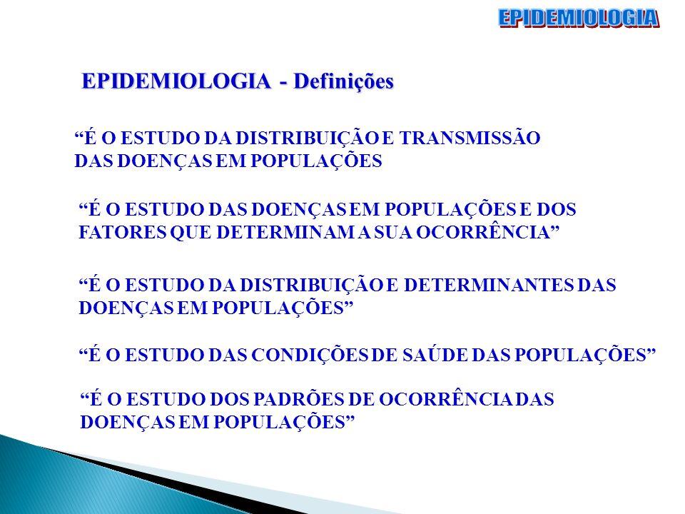 EPIDEMIOLOGIA EPIDEMIOLOGIA - Definições