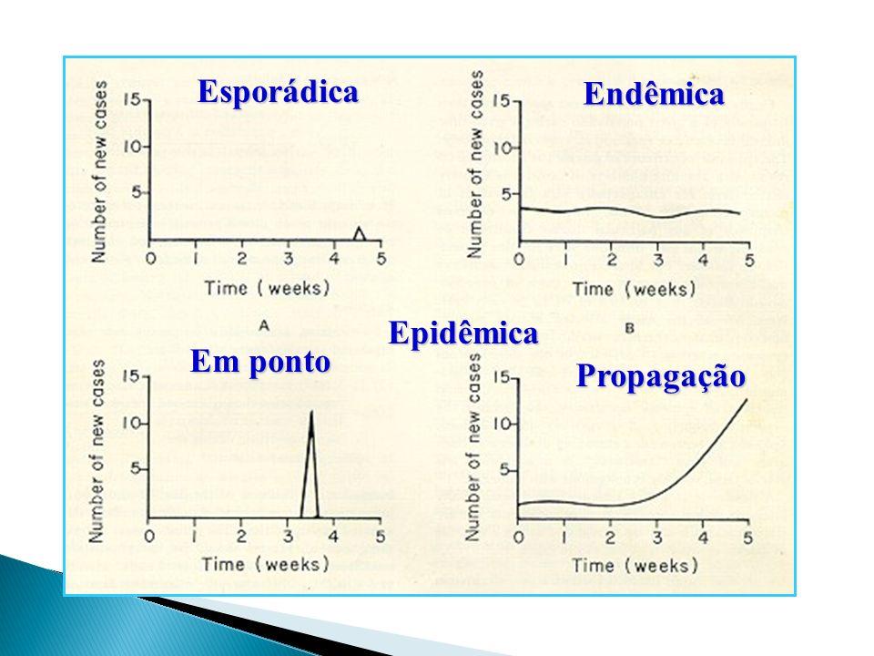 Esporádica Endêmica Epidêmica Em ponto Propagação 28 28