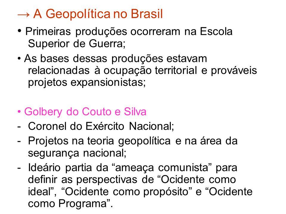 → A Geopolítica no Brasil