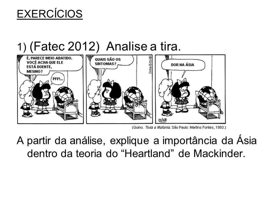 EXERCÍCIOS 1) (Fatec 2012) Analise a tira.