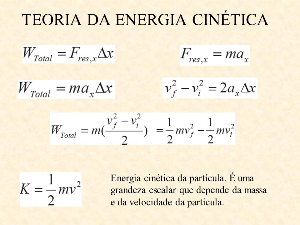 TEORIA DA ENERGIA CINÉTICA