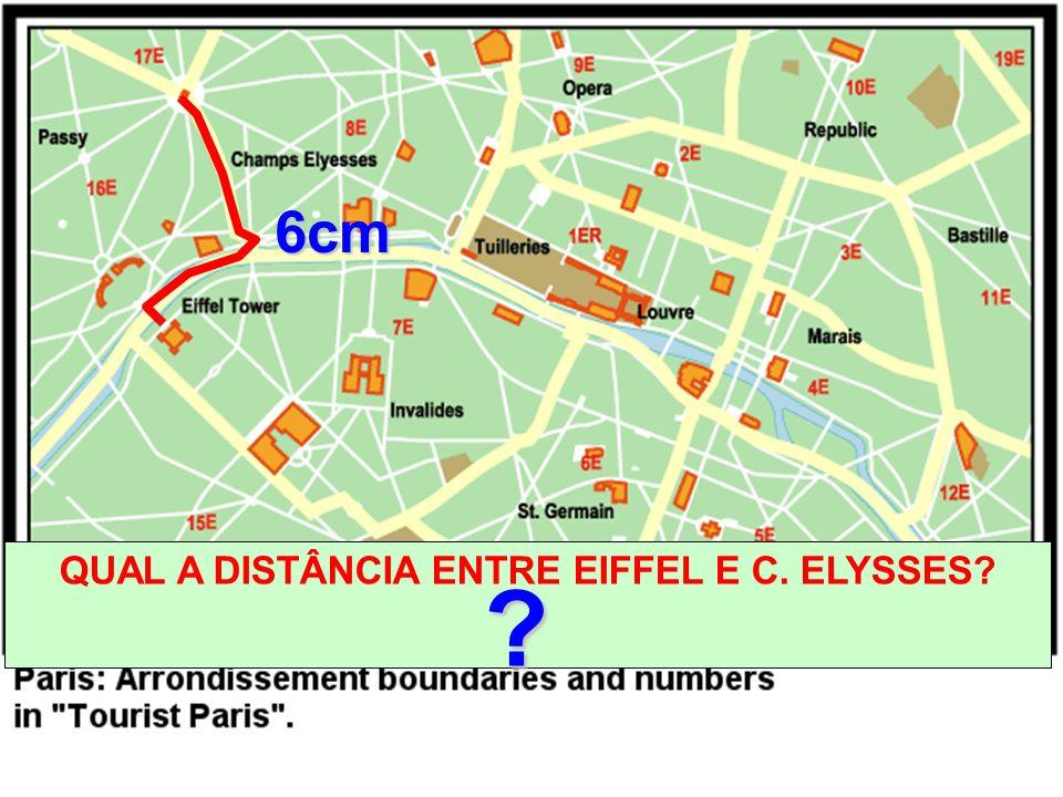 QUAL A DISTÂNCIA ENTRE EIFFEL E C. ELYSSES