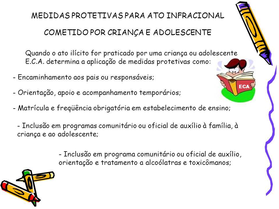 MEDIDAS PROTETIVAS PARA ATO INFRACIONAL COMETIDO POR CRIANÇA E ADOLESCENTE