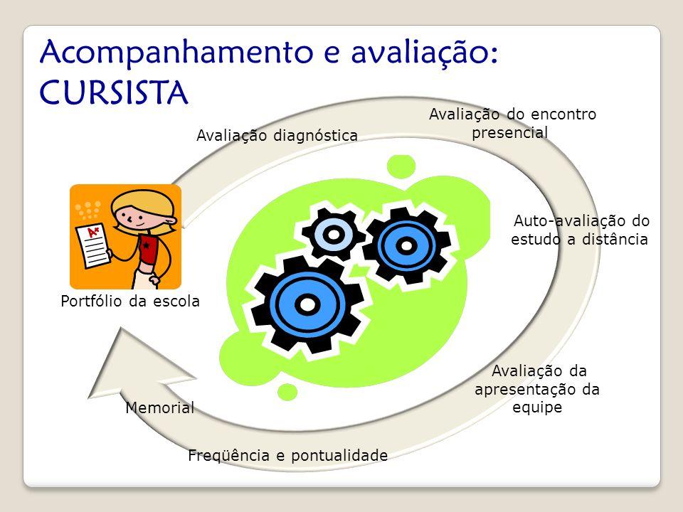 Acompanhamento e avaliação: CURSISTA