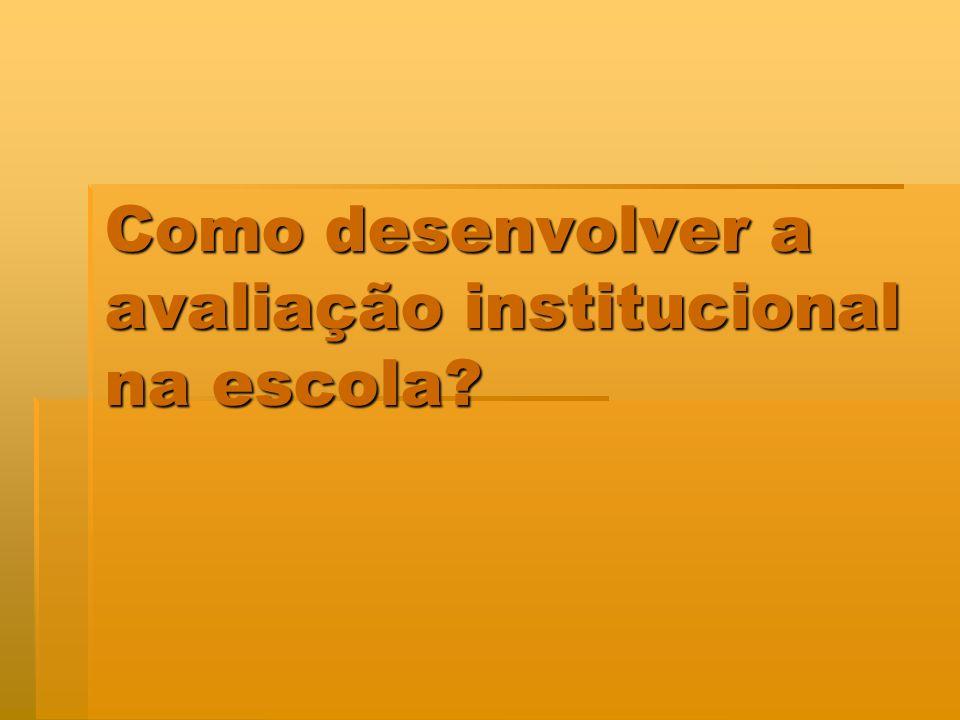 Como desenvolver a avaliação institucional na escola